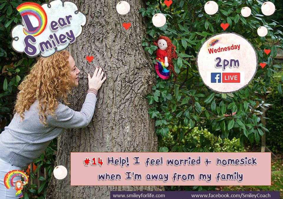 Dear Smiley: Help! I feel worried + homesick when I'm away from my family