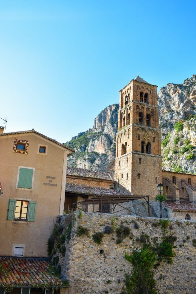 Moustier Saint Marie, France old town tower