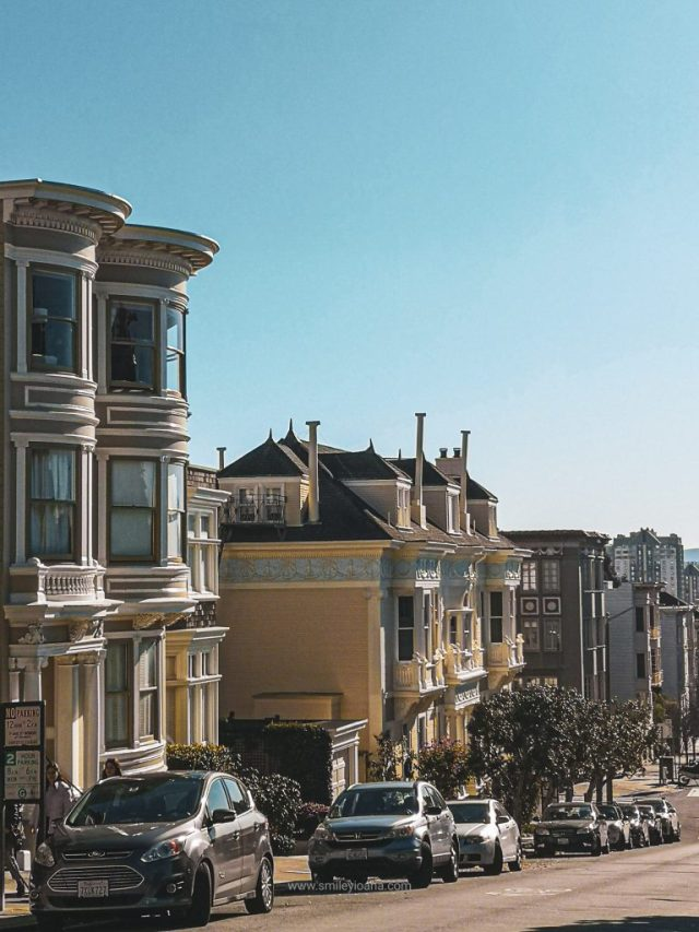San Francisco Pacific Heights donwhill street