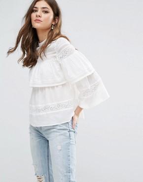 lace detail blouse