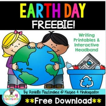 Free Earth Day writing paper and headband