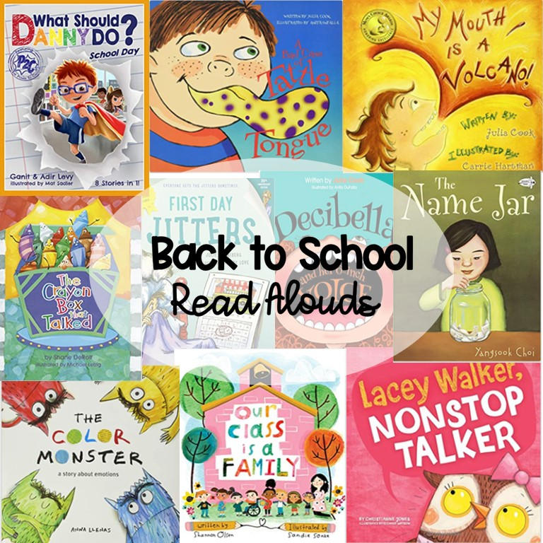 Read alouds for the first week of school