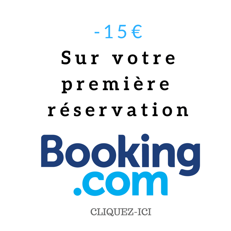 -15€ sur BOOKING.COM