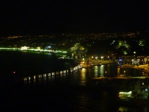 Baie de Nice by night