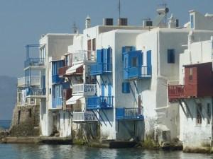 Les maisons de la petite Venise, les pieds dans l'eau...