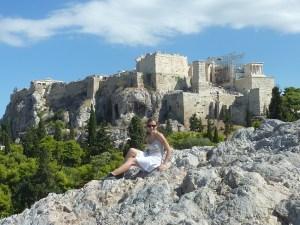 Vue sur l'Acropole depuis l'Aréopage
