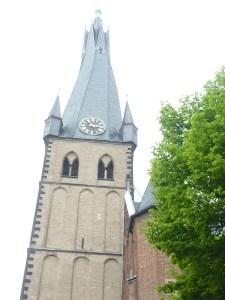 Eglise St Lambert, au clocher flammé