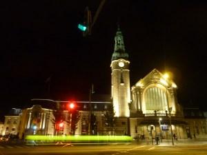 La gare by night