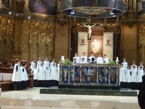 Les élèves de l'Ecole Chorale de Montserrat