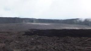 Coulée de lave 2007 dans l'enclos
