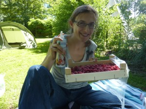 Dans le fabuleux monde de Benoît, on achète les framboises par cagettes entières... et qu'est-ce que c'est bien !