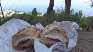 Les fameux sandwichs Caprese d'Aldo