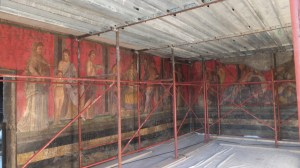 La fameuse fresque, en rénovation