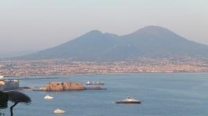 Vue sur la baie de Naples depuis la villa Scipion