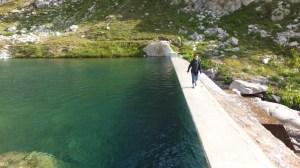 Traversée du barrage