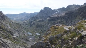 Vue sur la vallée des Merveilles depuis la baisse de Valmasque