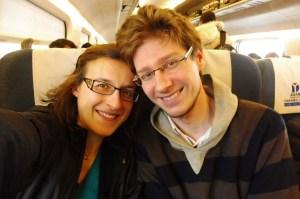 Dans le train !