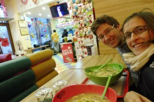 Soupe de nouilles confectionnée par nos soins, dans un resto qui avait tout pour me plaire ;-)