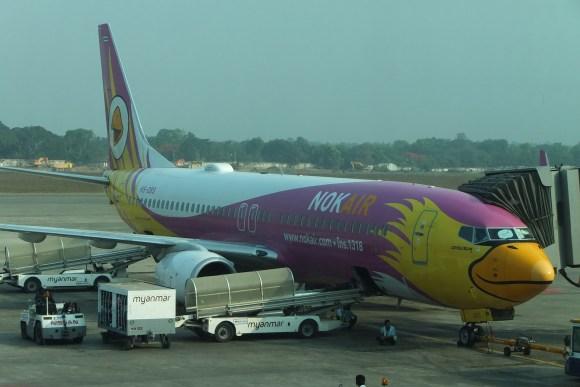 Un avion sympa à l'aéroport de Yangon
