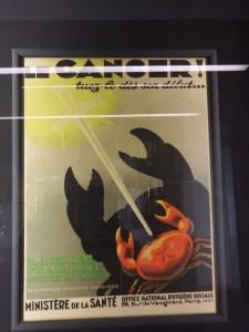 L'une des premières affiches de santé publique pour le dépistage du cancer