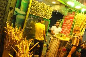 Stand de jus de canne à sucre à Amman