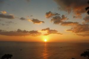 ... et son coucher de soleil !