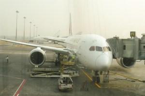 Notre avion nous attend sagement