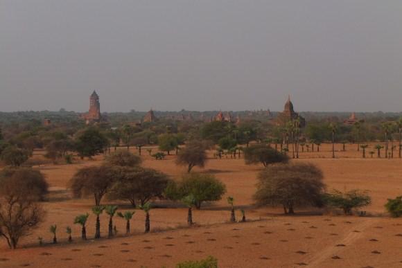 Vue depuis la terrasse du temple Bulethi