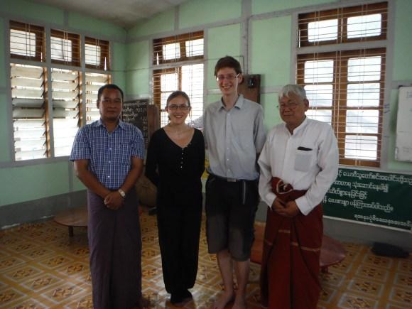 Repas avec le responsable du monastère...