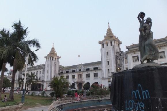 La gare de Yangon