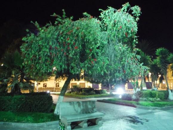 Sur la place centrale de Latacunga