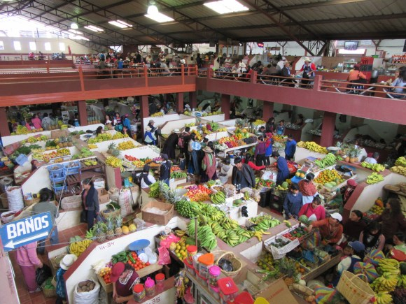 Le marché de Sigsig vu du ciel ;-)