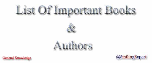 Books & Their Authors List