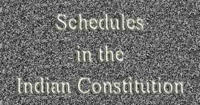 Schedules in the Indian Constitution