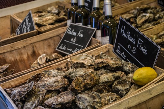 You can eat these on the spot at Marché Bastille.