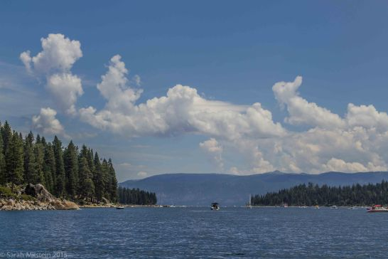 Dragon-shaped cloud above the entrance to Emerald Bay