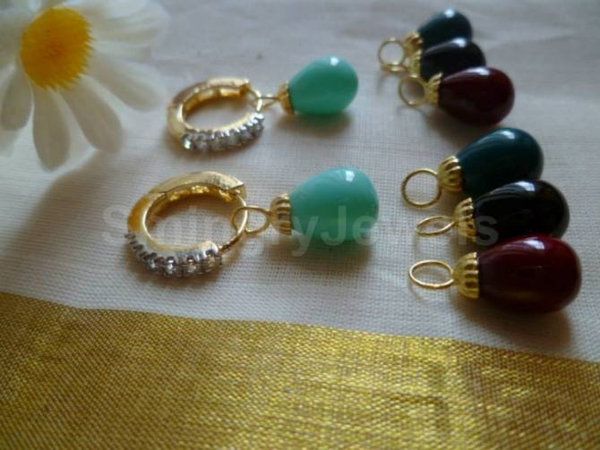 Removable drop antique earring