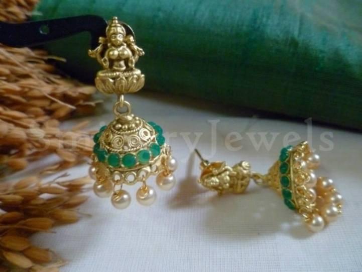 Temple Jewellery traditional jhumka / Jhumki earrings Kemp