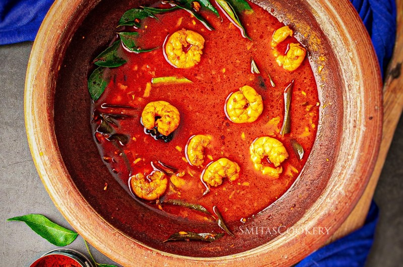 Prawns Curry in meenchatti