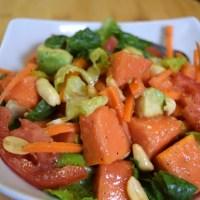 Ripe papaya and Avocado salad