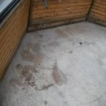 Polished Concrete Gazebo Floor in Mcminnville, Oregon
