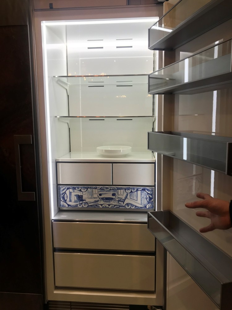 luxury appliances Dacor Modernist Atelier Edition porcelain refrigerator