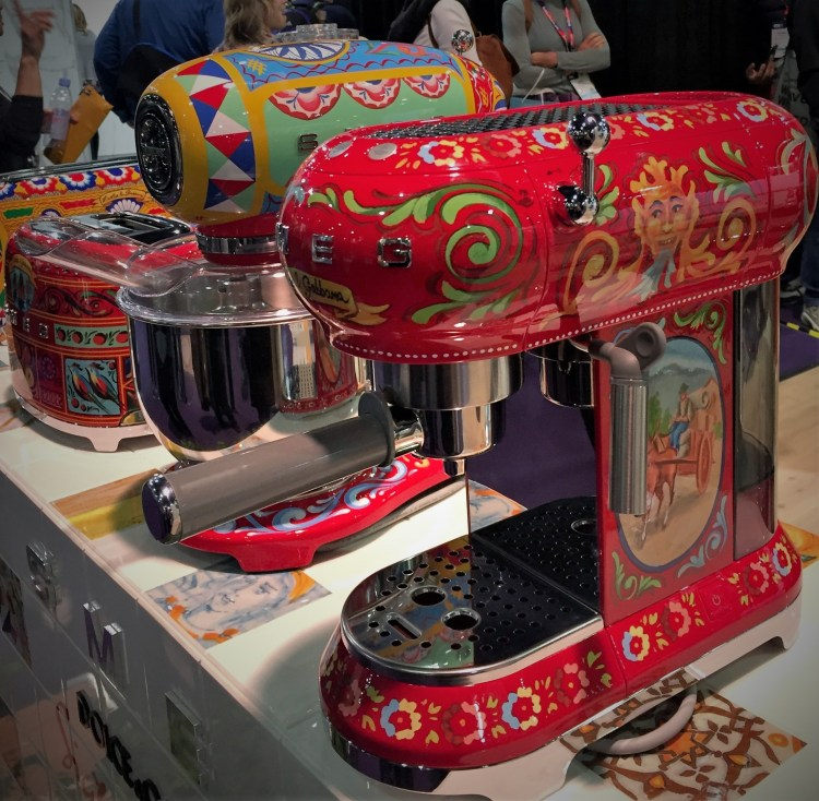 Smeg Sicily is My Love hand painted luxury countertop appliances