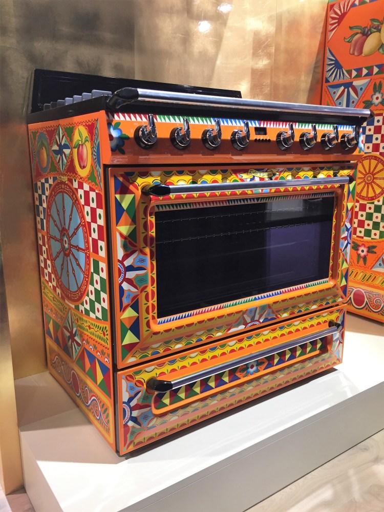 luxury appliances Smeg Dolce & Gabana hand painted kitchen range