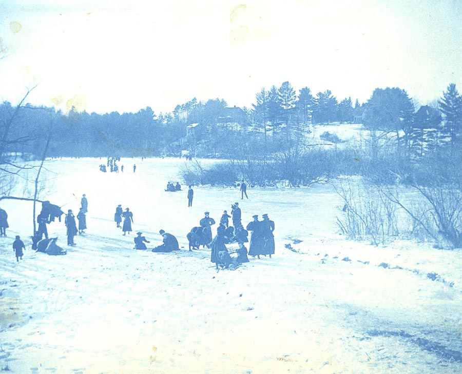Skaters on Paradise Pond in 1888