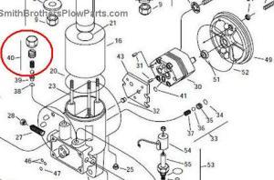 Pump Relief Valve 15699 for Meyer E60 (and E60H