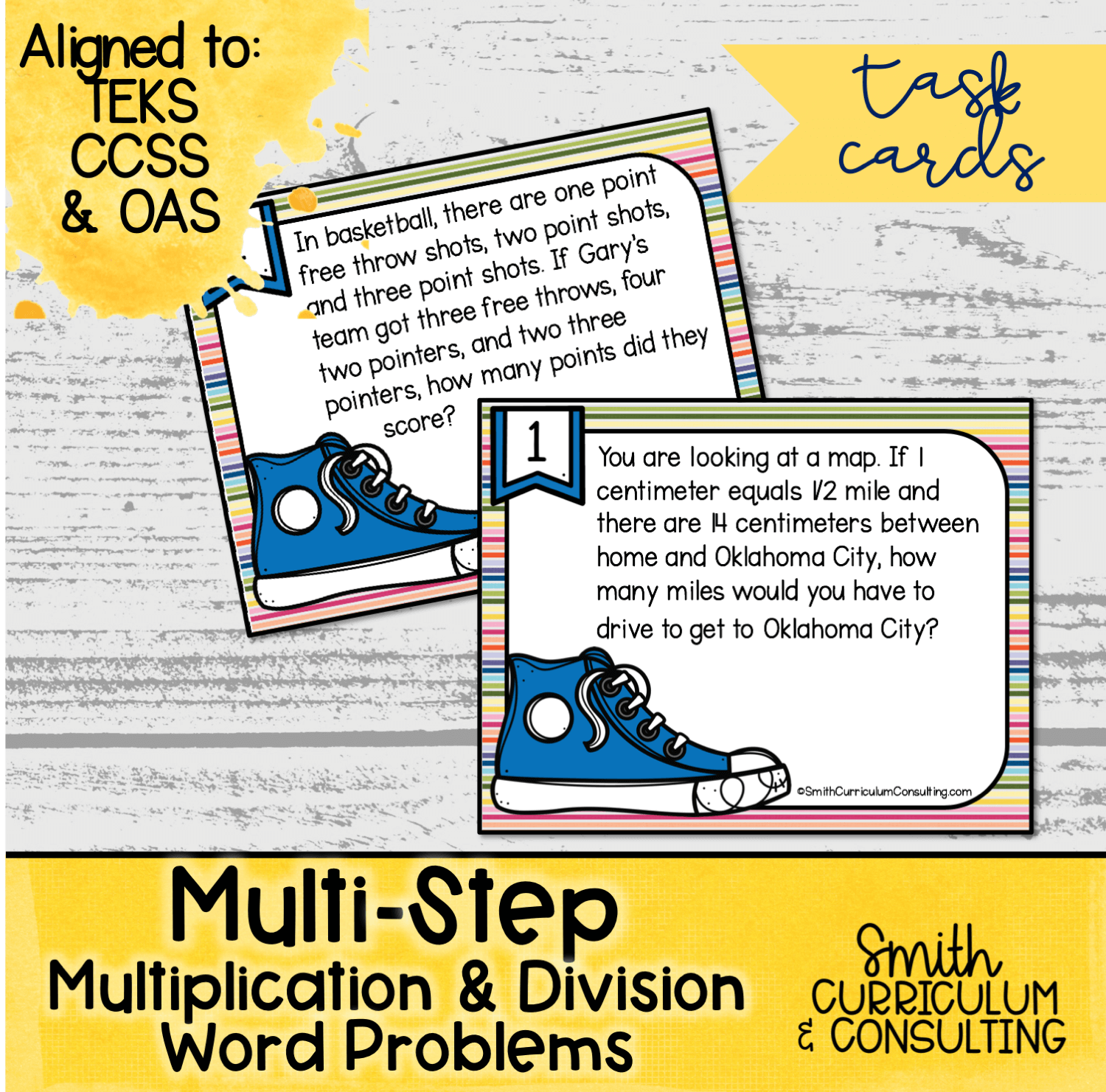 Multi Step Multiplication And Division Word Problem Task