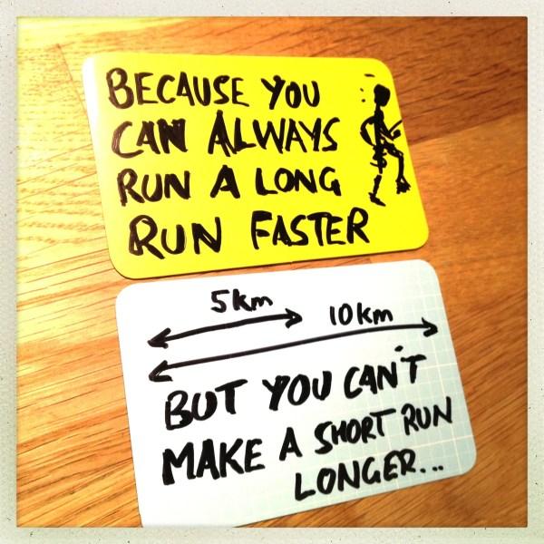 you can't make a short run longer