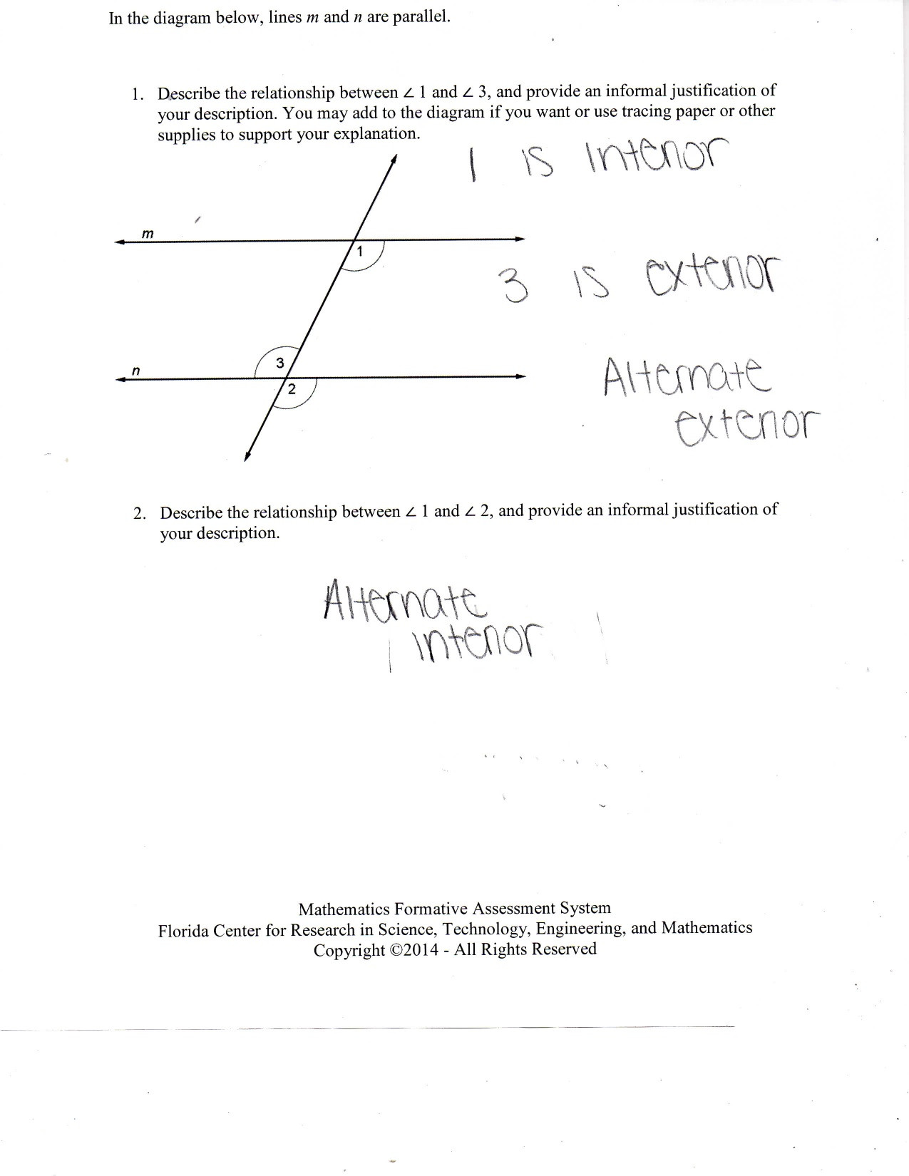 30 Angle Relationships Worksheet Answers
