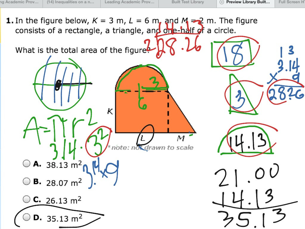 30 Area Of Composite Figures Worksheet